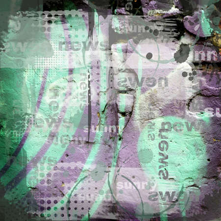 oldened: Abstract grunge background green and gray