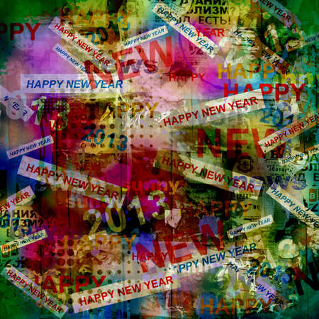 Happy new year abstract background photo