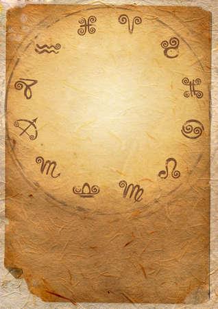 astrologie: Horoskop Sternzeichen Sternzeichen im Kreis Lizenzfreie Bilder
