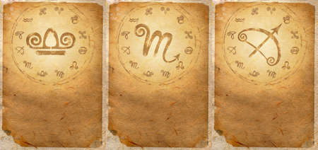 Zodiac series  Libra, Scorpio, Sagittarius