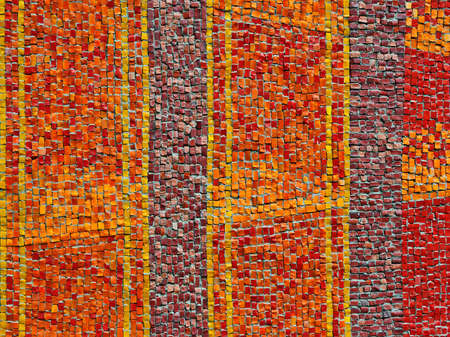 brawn: Abstract mosaic background Stock Photo