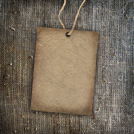 Background texture vintage burlap with label photo