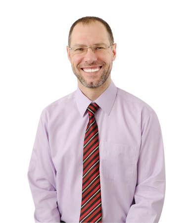Smiling business man isolated on white background Stock Photo - 17694465