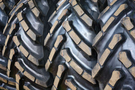 Close up of  tractor tires tread photo