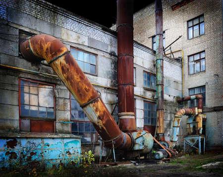 devastation: Vintage old factory