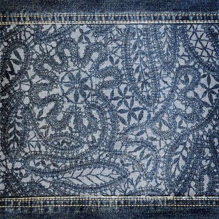 jeansstoff: Hintergrund Denim Textur mit Lochmuster