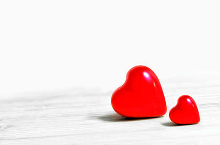 ceramic: ceramic red heart on a white background