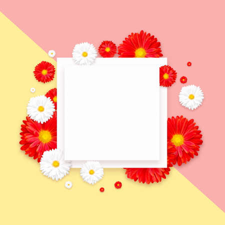 Background with beautiful colorful flower. Wallpaper flyers, invitation, posters, brochure voucher discount