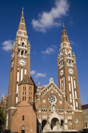 dom: Szegedi Dom (�glise de Szeged) Banque d'images