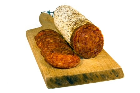Hungarian (Magyar) paprika salami Stock Photo - 12075968