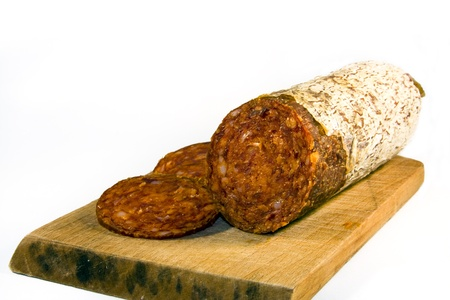 magyar: Hungarian (Magyar) paprika salami Stock Photo