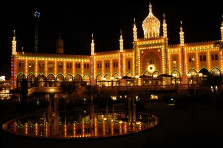 Tivoli Gardens in Copenhagen photo