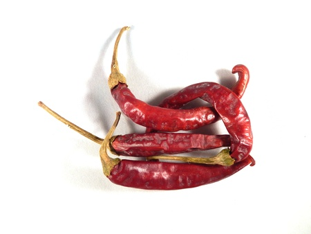 magyar: Magyar  Hungarian  paprika - dried red peppers Stock Photo