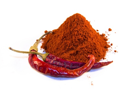 Magyar  Hungarian  paprika - dried peppers and powder Stock Photo - 18650061
