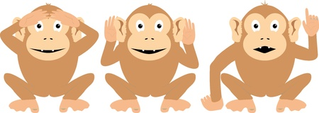 Three Wise Monkeys - a little different