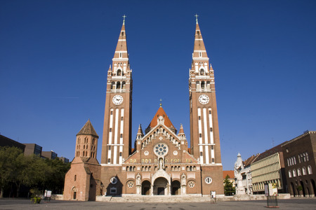 szeged: Towers of Szeged Dom cathedral