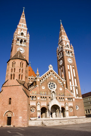 Towers of Szeged Dom cathedral