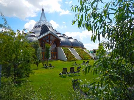 MAKO, HUNGARY - JULY 01  2014  - Building of Hagymatikum Spa  in South Hungary