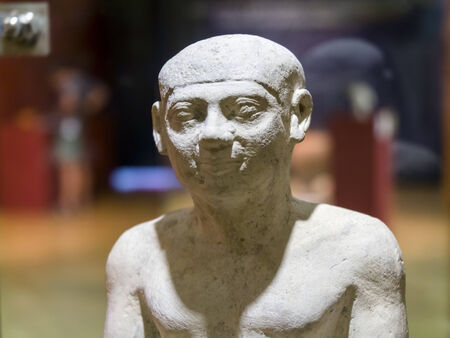 Ancient Egyptian statue of a man (B.C. 2200)