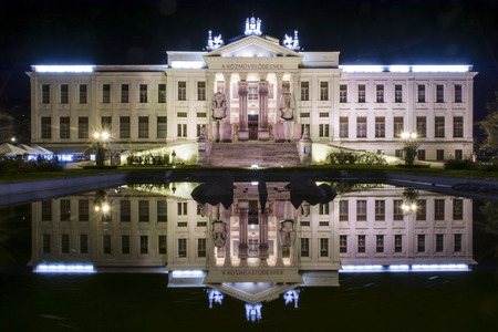 szeged: The Mora Ferenc Museum of Szeged, Hungary at night