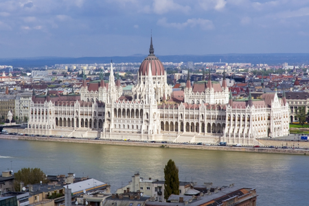 View of the Hungarian Parliament from the Fisherman Editorial