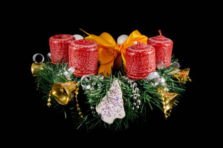 plastic made: Advent wreath made from plastic pine