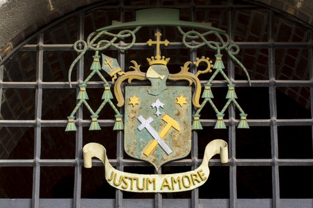 amore: Justum amore in an escutcheon in Szeged