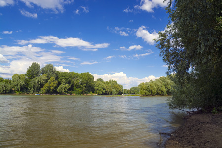 Beach of the Tisza River at Szeged, Hungary