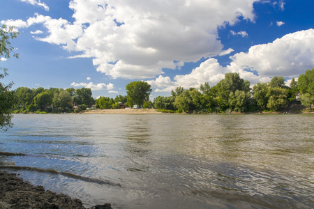 szeged: Beach of the Tisza River at Szeged, Hungary