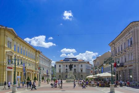 szeged: SZEGED HUNGARY  JUNE 21. 2015  Klauzal Square in the city of Szeged