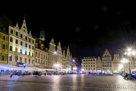 rynek: Old Market Square (Rynek) in Wroclaw, Poland