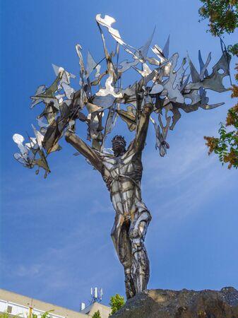 The Statue of Prometheus in Szekszard, Hungary