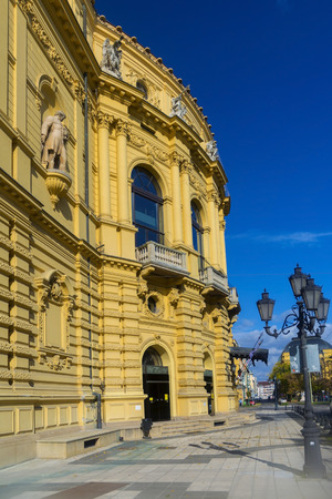 szeged: Building of the National Theatre in Szeged, Hungary Stock Photo