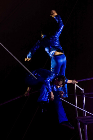 SZEGED, HUNGARY - JUNE 12. 2016 - rope-dancer performance of Hungarian National Circus (Richter) by Gerling group