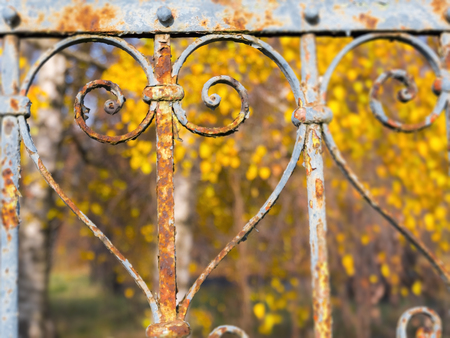 Part of an old fence in Balatonkenese Stock Photo