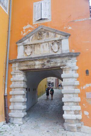 Gate of the Old City of Labin or Albona Imagens