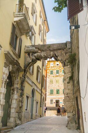 The Old Gateway Roman Arch in Rijeka