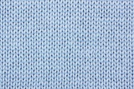 cotton wool: blue cotton knitting material as background