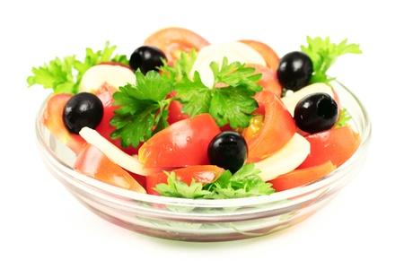 ensalada de tomate: ensalada Foto de archivo