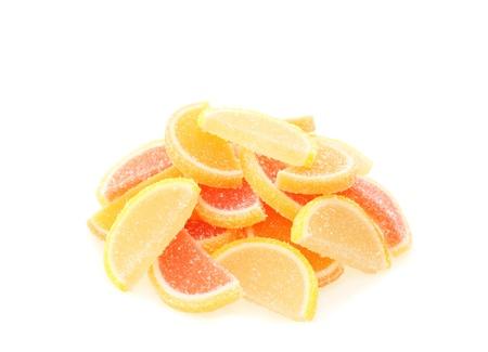 Fruit candy on white background Stock Photo