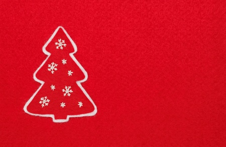 new year tree on red background  Stock Photo