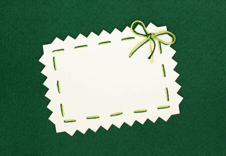 empty  blank on green background