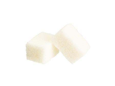 white sugar isolated on white Stock Photo