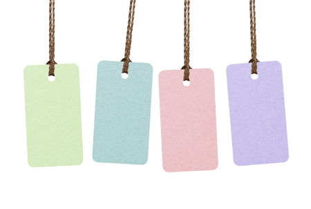 Multicolor tags isolated on white
