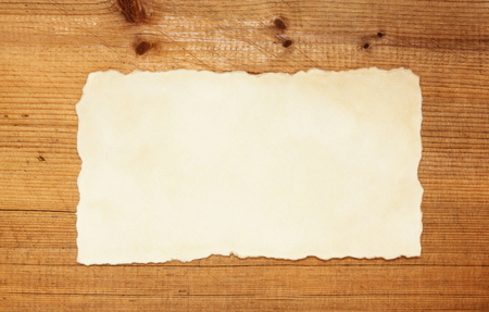 vintage blank on rustic wooden background  Stock Photo