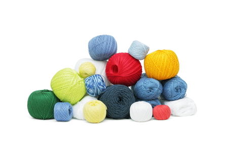 Colorful yarn clews
