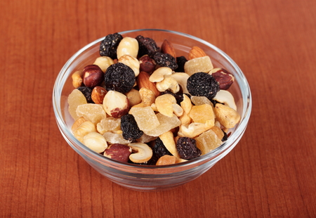 Healthy tasty snack Nuts and dried fruits
