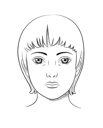 lineart: lineart portrait of a woman like engraving