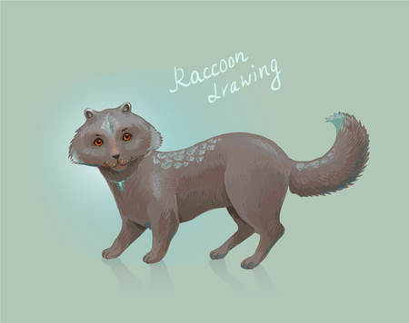 exotic pet: Sketch of fantastic animal. Unusual or exotic pet. Fantasy mascot suit for website, playing card, etc.