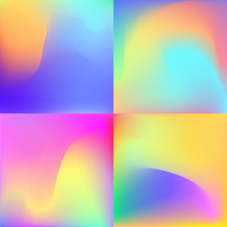 Fluid colors backgrounds set. Applicable for banner, cover, brochure, wallpaper, invitation card,poster. Illustration